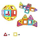 マグハッピー 訳あり 箱なし 30ピース マグネットブロック 磁気おもちゃ MAGHAPPY 知育玩具 マグフォーマー 磁石付き積み木 創造力と想像力を育てる知育 玩具 (30)