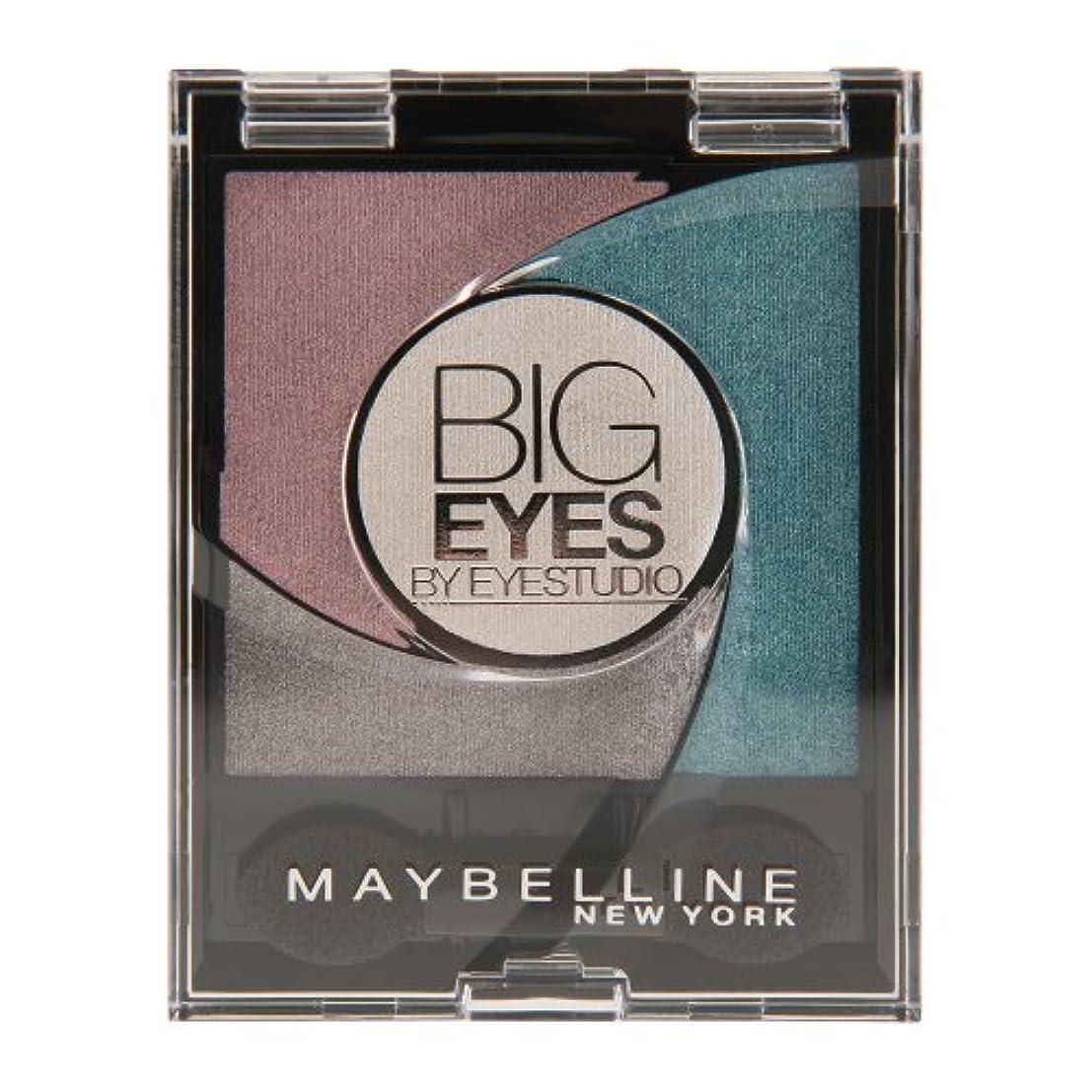 視聴者幻想恐ろしいMaybelline New York Lidschatten Eyestudio Big Eyes Palette Turquoise 03 / Eyeshadow Set in Türkis-Tönen mit Wet-Technologie...