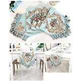 テーブルフラッグ - テーブルクロス、ファブリックホームデコレーション、アメリカンヨーロッパスタイル、テレビキャビネットコーヒーテーブルテーブルクロスシンプルでモダンなファッションテーブルクロス (Color : Aqua blue/C, Size : 30x240cm)