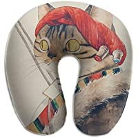 Merlin Quintina 猫 ネコ キティ ニャー フィッシング 抱き枕 U字型クッション 首枕 ネッククッション 旅行ピロー360度快適な睡眠 子宮頸椎 保護 ポータブル