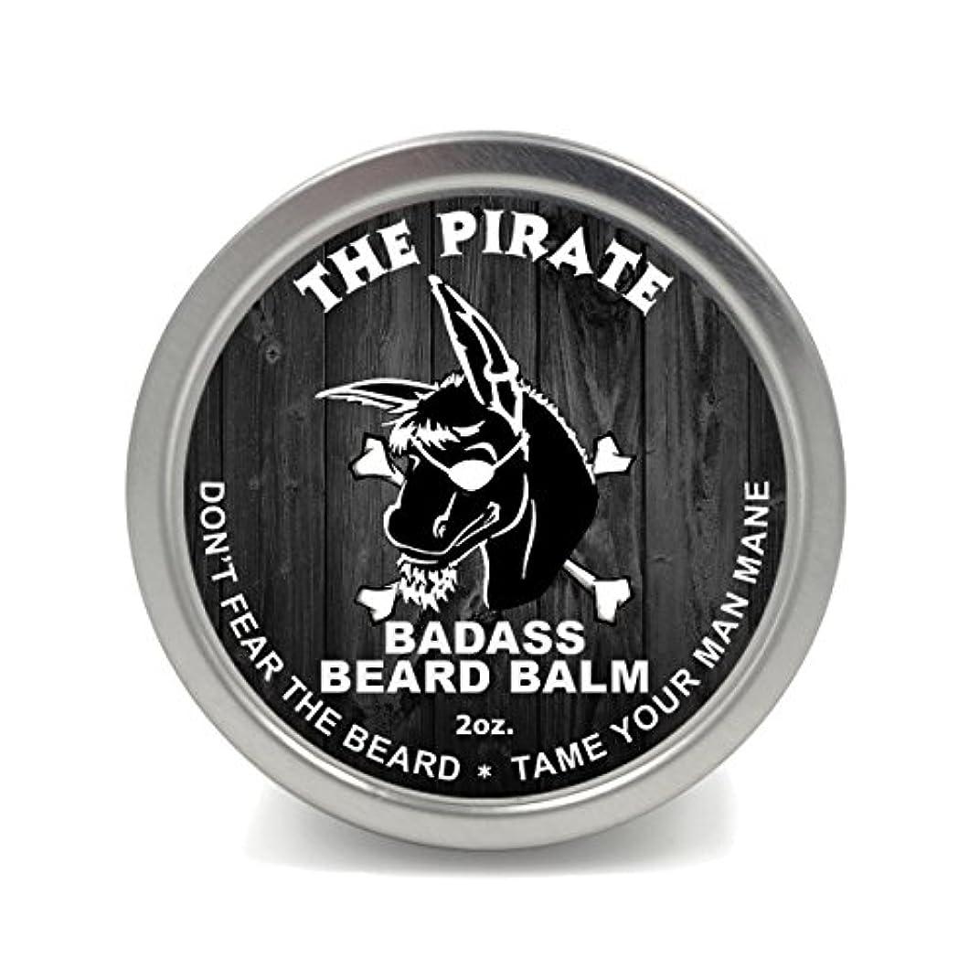 瞳反対に技術Badass Beard Careビアードバーム2オンスThe Pirate