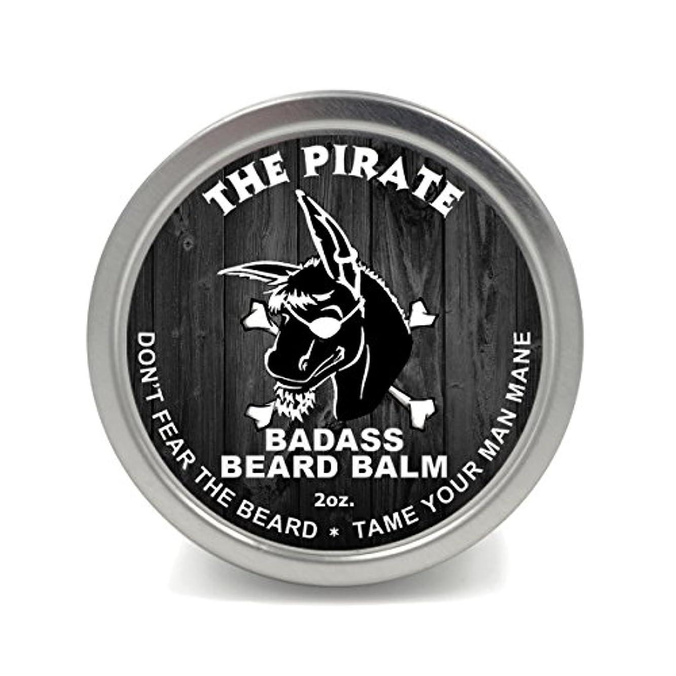 わな気分遮るBadass Beard Careビアードバーム2オンスThe Pirate