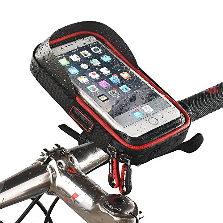 リクルートまもなく動員するWHEEL UP 自転車電話ホルダー 防水バッグ 自転車バッグ サイクリングバッグ フロントバッグ ナビゲーションフレーム