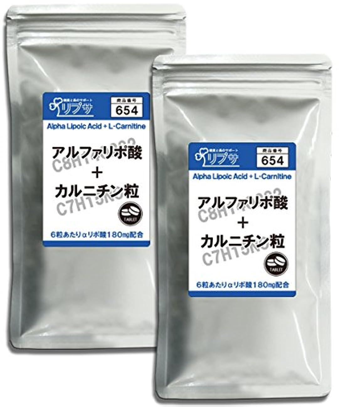キロメートルピンポイント祭司アルファリポ酸+カルニチン粒 約3か月分×2袋 T-654-2