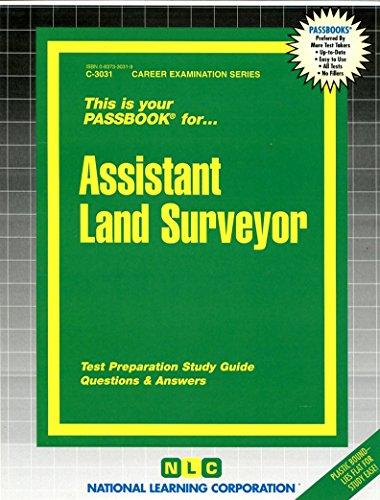 Download Assistant Land Surveyor (Career Exam Ser C-3031) 0837330319
