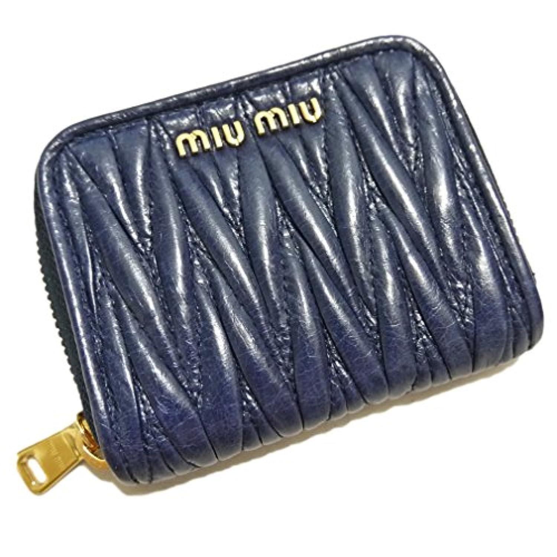 [ミュウミュウ] MiuMiu マトラッセ コインケース ネイビー(BLUETTE) 5MM268 miu miu  [並行輸入品]