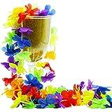 BOSHENG フラダンスレイ ハワイアン 首飾り 花輪 パーティー ビーチ 50本セット