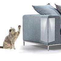 Powanfity 猫 爪とぎ防止 ソファ 家具保護 爪研ぎ予防の対策に ソファー 傷つきにくいソファパッド 粘着タイプ ソファー保護ステッカー 透明PVC 2枚入 使用簡単