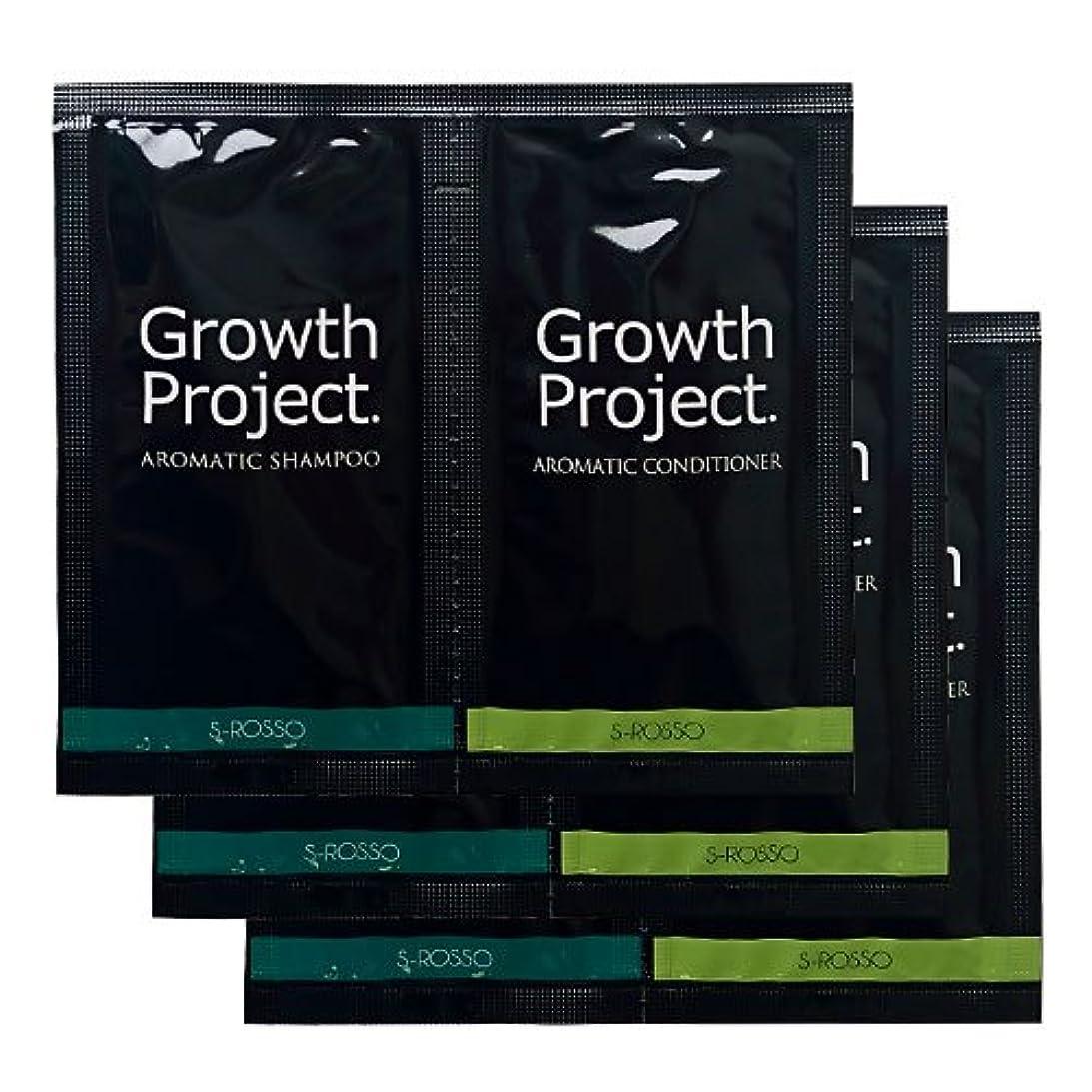 と遊ぶシビック消毒剤Growth Project.アロマシャンプー&コンディショナートライアルセット3回分