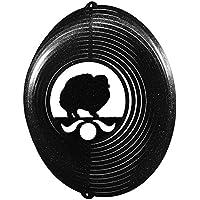 ポメラニアンCircle Swirly Metal Wind Spinner 2257