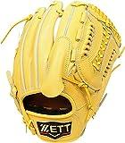ZETT(ゼット) 野球 硬式 ピッチャー グラブ(グローブ) プロステイタス (右投げ用) BPROG31 イエロー/ウッディブラウン