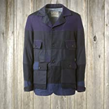Waste (Twice) Hunter Jacket Patchwork: Navy