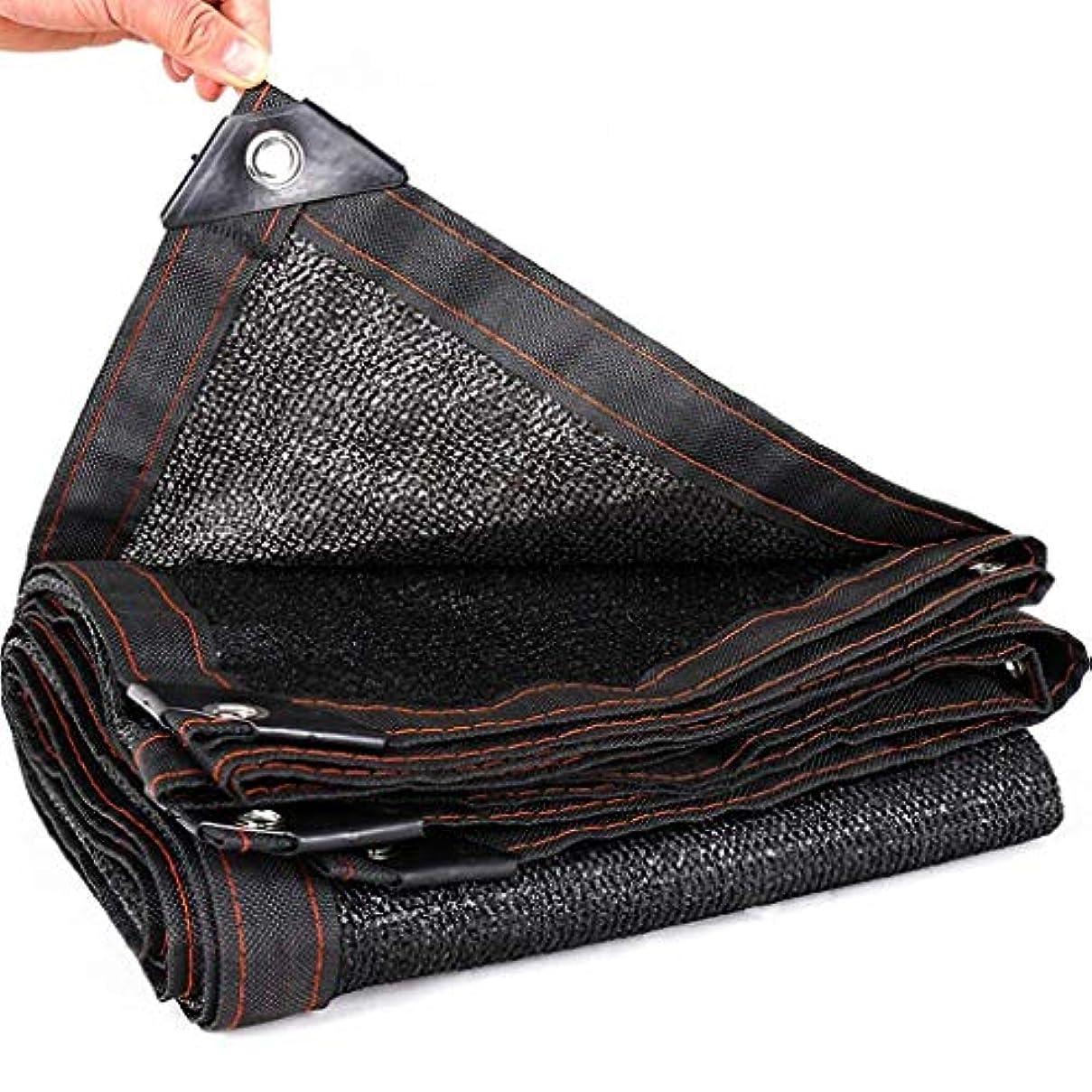 パワー充実設計黒シェード布日焼け止めシェードネット、温室シェーディング用紫外線耐性生地メッシュ防水シート95%シェードガーデンフラワープラント納屋犬小屋車の屋根カバー (サイズ さいず : 5x5M(16.4x16.4ft))