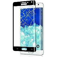 Galaxy Note Edge フィルム 3D曲面加工 全面保護 docomo SC-01G au SCL24 ガラスフィルム 表面硬度9H 高透過率 指紋防止 Samsung ギャラクシー ノートエッジ 保護フィルム 黒