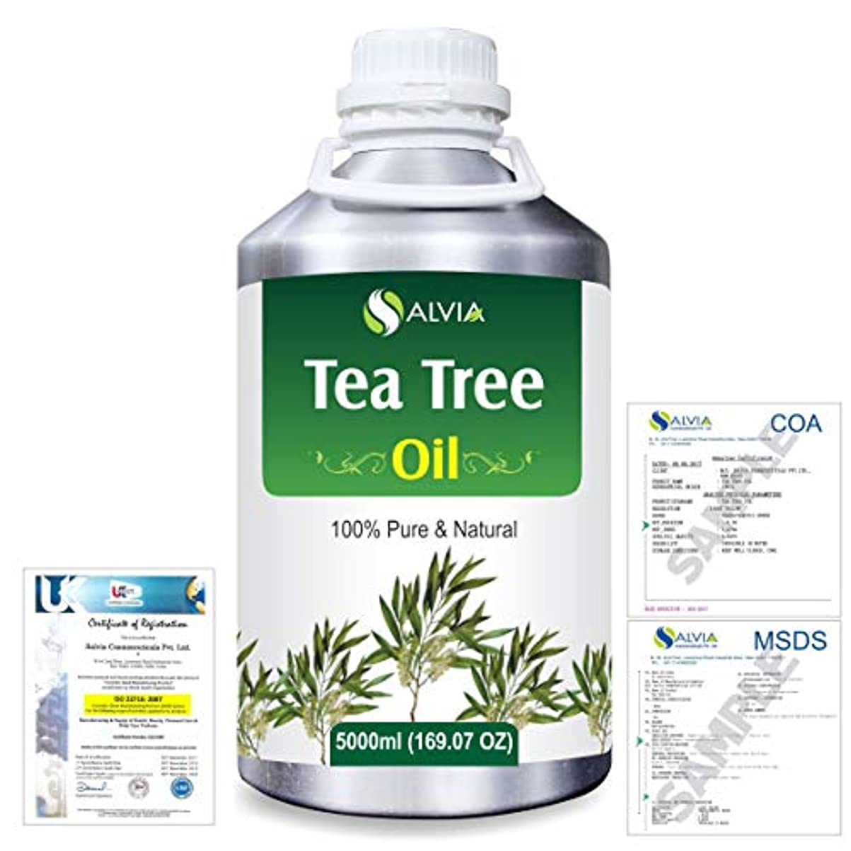 速いコック辛いTea Tree (Melaleuca alternifolia) 100% Natural Pure Essential Oil 5000ml/169fl.oz.
