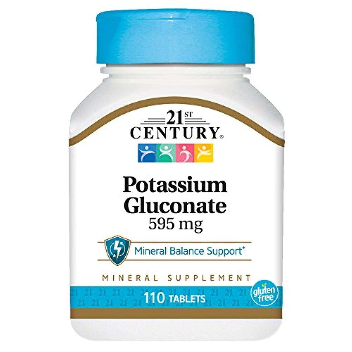 保証金キャンドル政治家21st Century Health Care, Potassium Gluconate, 595 mg, 110 Tablets