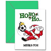 """Soccerクリスマスカード3- Pack """" missile-toe """"スポーツPOWERCARD ( 5x 7) 3- Pack"""