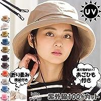 2019リニューアル 紫外線100%カット 帽子 レディース 大きいサイズ 紐付き UV UVカット 春 夏 折りたたみ 自転車 飛ばない