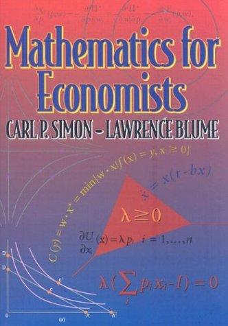Mathematics for Economistsの詳細を見る