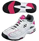 【ヨネックス】YONEX POWER CUSHION 102【SHT-102】3E設計 テニスシューズ 軽量 ブラック/ピンク 23.5cm