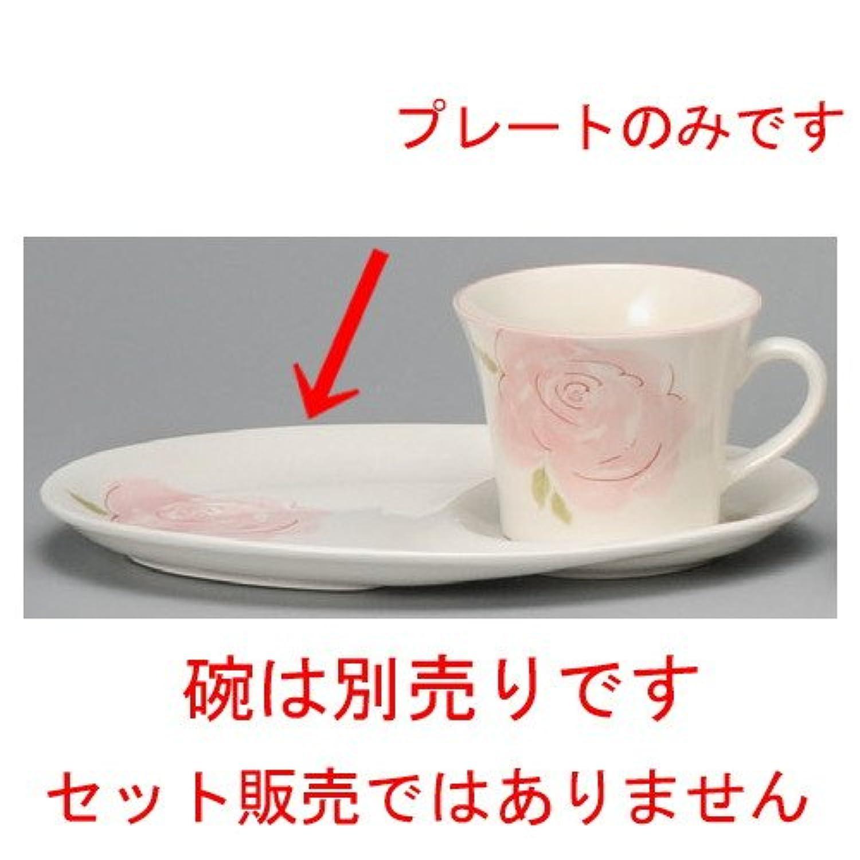 ピンクローズデザートプレート[ 228 x 153mm ]【 コーヒー紅茶 】【 レストラン カフェ 飲食店 洋食器 業務用 】