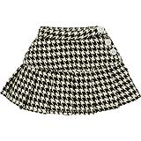 25二段プリーツスカート 黒×白