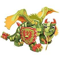 Bloco Toys ブロコトイズ ブロック 知育玩具 ドラゴンシリーズ コンバットドラゴン BC-20002 お風呂で遊べるおもちゃ 6歳~