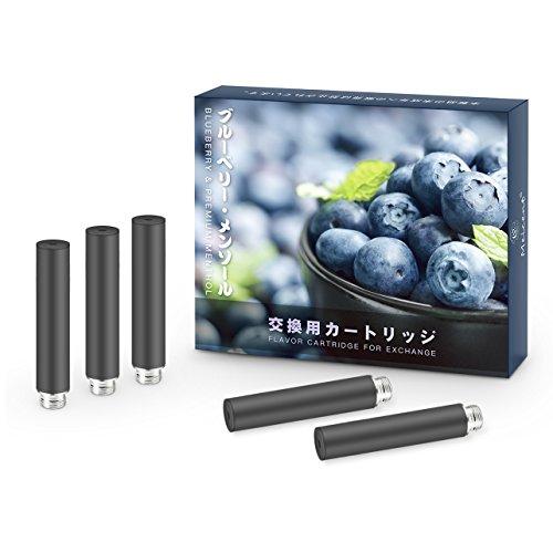 meicent(JP) FLEVO互換カートリッジ 5本 電子タバコ用アトマイザー 標準サイズ ブラック (ブルーベリー, カートリッジ)
