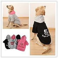 Mrsiy1128 PAWZ道路かわいいデザイン犬服大小ペット冬用暖かいコート - 4色、6サイズ (カラー : グレー, サイズ : 70)