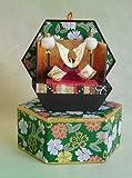 六角収納兜 五月人形飾り(緑色)