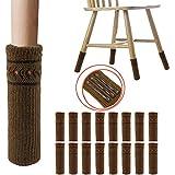 椅子脚カバー チェアソックス 16枚入り 椅子足カバー フローリング傷防止 丸脚と角脚両方対応 (焦げ茶色)