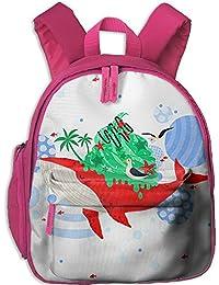 サメ プリントアイデア?デザインおしゃれ 通気性子ども男の子 女の子のキッズ リュック通学ショルダーバッグ