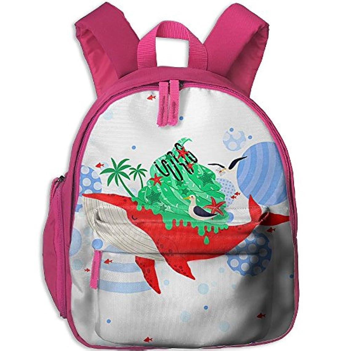 島自分のためにプリーツサメ プリントアイデア?デザインおしゃれ 通気性子ども男の子 女の子のキッズ リュック通学ショルダーバッグ