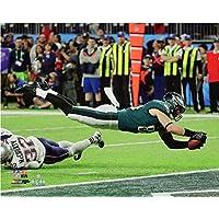 Zach Ertz Philadelphia EaglesタッチダウンキャッチSuper Bowl LII 8 x 10フォト