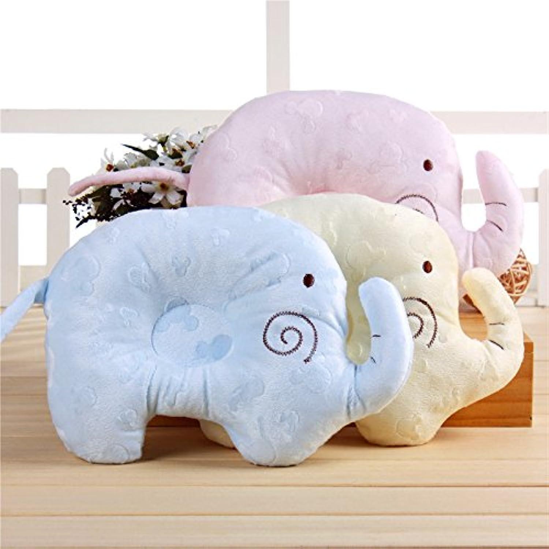 幼児ベビー枕ヘッドレスト、ソフトメモリフォームSpecialtyデザインの赤ちゃん、防ぐフラットヘッドSyndrome、ピンク
