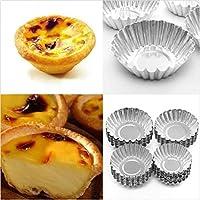 アゼリン10個エッグタートアルミカップケーキケーキクッキー金型プディング金型ベーキングツール新送料無料:M