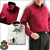 二重衿インタックドレスシャツ2枚組Bセット50265/赤いシャツ/還暦/ギフトM