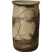 信楽焼 しがらき物語 古窯白刷毛目傘立(全高43cm×全幅24.5cm)