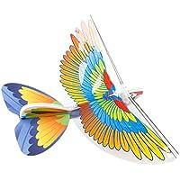 Techinal Parrot電動モーター紙飛行機モデルDIY電源Up Flying Plane Forキッズ子供アウトドア再生