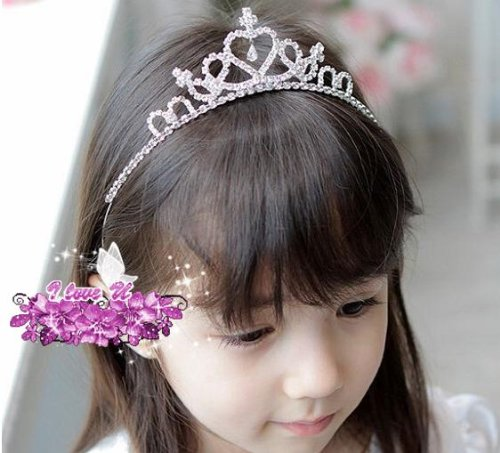 子供用ティアラ 可愛いティアラ 小さなプリンセスティアラ カチューシャ スワロフスキィー