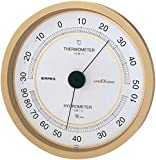 エンペックス気象計 温度湿度計 スーパーEX 高品質温湿度計 壁掛け用 日本製 シャンパンゴールド EX-2748