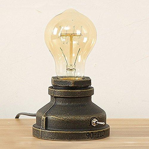 スタンドライト 電球スタンド LEDヴィンテージスタイル 鉄金属ベース アンティーク 室内テーブルライトE27エジソン 電球 スタンド デスクライトベッドサイドライト 玄関 階段 リビングルーム、ダイニングルーム、書斎、レストラン、バー常夜灯