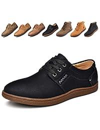 [Yuanhua] ブーツ メンズ ビジネス 軽量 高級レザー 防滑 ビジネスシューズ アウトドアシューズ ローカット 靴 メンズブーツ メンズシューズ スニーカー ウォーキングシューズ
