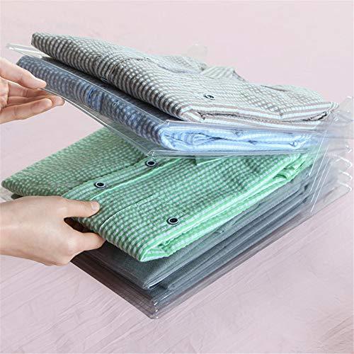 衣類 収納 棚 ケース 仕切り 10枚組折り畳み板 シャツ...