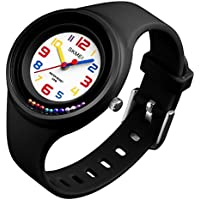 "Boys Girls Watches Wristwatches,""Ball Game On The Wrist"" Super Soft Band Student Age 11-15 7-10 Wristwatches Best Gift for Teenagers Girls Boys Kids Children"