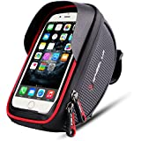 Bike phone mount bag Wallfire Bicycle Frame Bike Handlebar Bags with Waterproof Touch Screen Phone Case for iPhone X 8 7 6s 6 plus 5s Samsung Galaxy s7 s6 note 7 Cellphone Below 6.0 Inch + Rain Cover