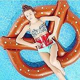 浮き輪 sisters うきわフロート 夏の日 水泳用品 強い浮力 フロート 大活躍 海水浴 プール プールパーティー おもちゃ 浮輪 浮き具 大人用子供用 夏休み 暑さ対策140cm(コーヒー色)