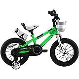 ROYALBABY(ロイヤルベイビー) 12インチ 14インチ BMXスタイル 子供用自転車 幼児用自転車 キッズバイク フルカバーチェーンケース リアバンドブレーキ 取っ手付きサドル RB-Freestyle