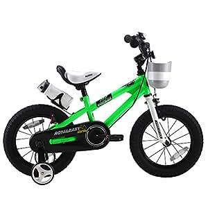 ROYALBABY(ロイヤルベイビー) 12インチ BMXスタイル男の子 女の子向け 子供用自転車 幼児用自転車 フルカバーチェーンケース リアバンドブレーキ 取っ手付きサドル RB-Freestyle 12グリーン