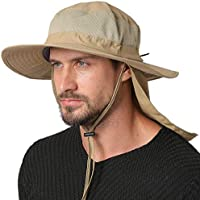 Jormatt Unisex UV Protection Outdoor Sun Hat UPF 50+ with Flap Neck Cover Foldable Fishing Safari Cap